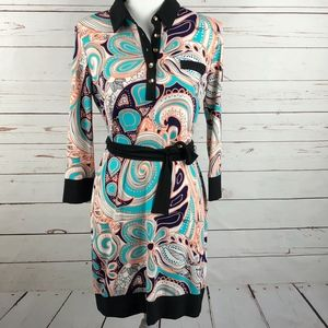 Ali Ro Paisley Shirt Dress 4
